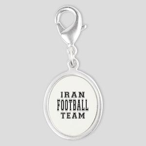 Iran Football Team Silver Oval Charm