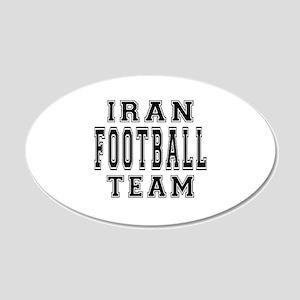 Iran Football Team 20x12 Oval Wall Decal