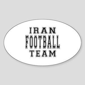 Iran Football Team Sticker (Oval)