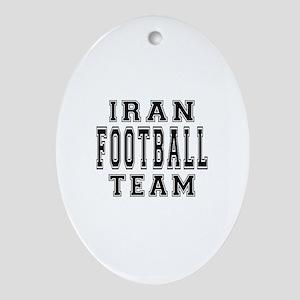 Iran Football Team Ornament (Oval)