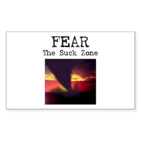 Fear the Suck Zone Rectangle Sticker