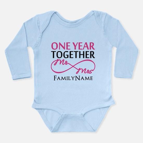 1st anniversary Long Sleeve Infant Bodysuit