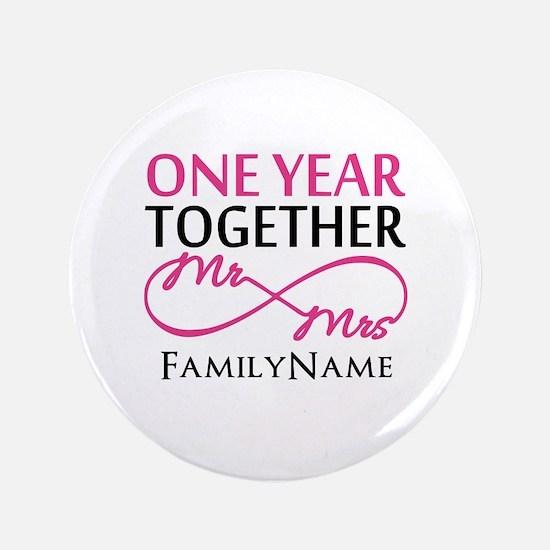 """1st anniversary 3.5"""" Button"""