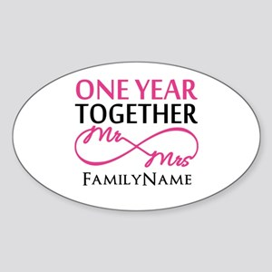 1st anniversary Sticker (Oval)