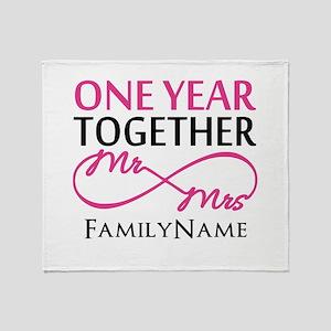 1st anniversary Throw Blanket