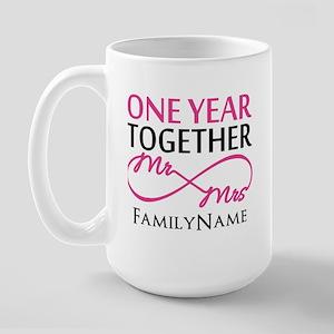 1st anniversary Large Mug