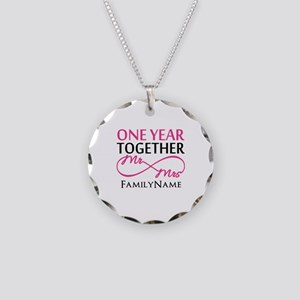 1st anniversary Necklace Circle Charm