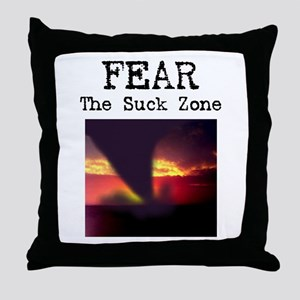 Fear the Suck Zone Throw Pillow