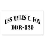USS MYLES C. FOX Sticker (Rectangle)