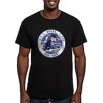 USS MYLES C. FOX Men's Fitted T-Shirt (dark)