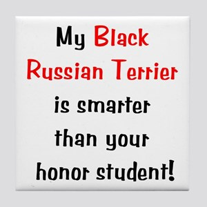 My Black Russian Terrier is smarter... Tile Coaste