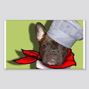 The Frenchie Chef Rectangle Sticker