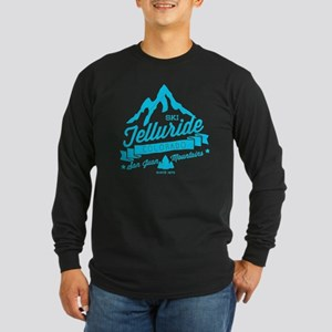 Telluride Mountain Vintag Long Sleeve Dark T-Shirt