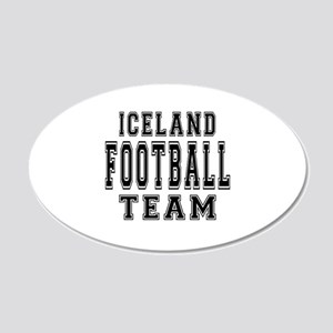 Iceland Football Team 20x12 Oval Wall Decal