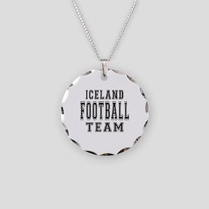 Iceland Football Team Necklace Circle Charm