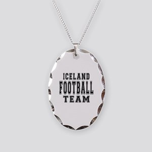 Iceland Football Team Necklace Oval Charm