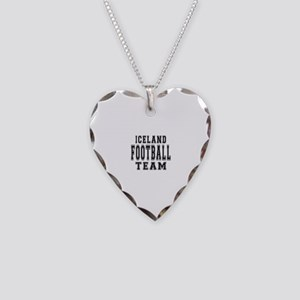 Iceland Football Team Necklace Heart Charm