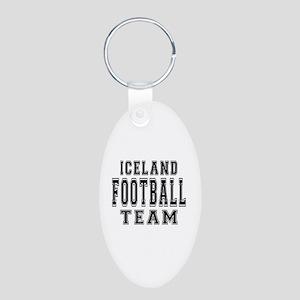 Iceland Football Team Aluminum Oval Keychain