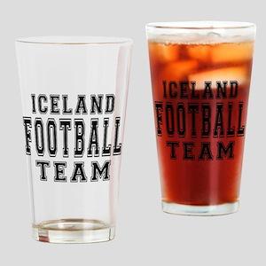 Iceland Football Team Drinking Glass