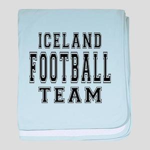 Iceland Football Team baby blanket