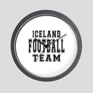 Iceland Football Team Wall Clock