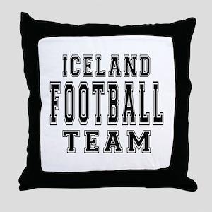 Iceland Football Team Throw Pillow