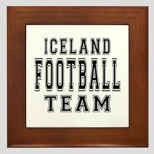 Iceland Football Team Framed Tile