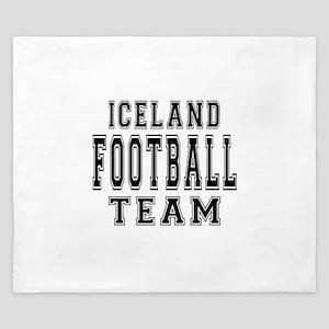 Iceland Football Team King Duvet