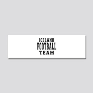 Iceland Football Team Car Magnet 10 x 3