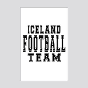 Iceland Football Team Mini Poster Print