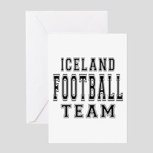Iceland Football Team Greeting Card