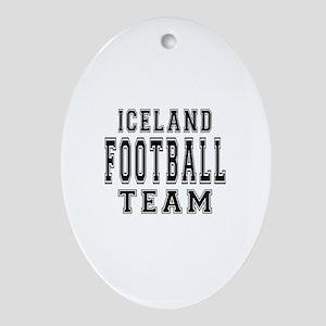 Iceland Football Team Ornament (Oval)
