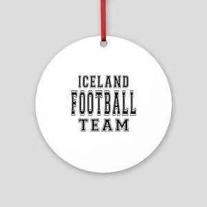 Iceland Football Team Ornament (Round)