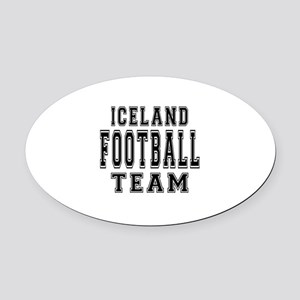 Iceland Football Team Oval Car Magnet