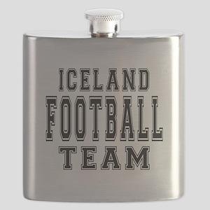 Iceland Football Team Flask