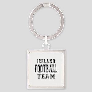 Iceland Football Team Square Keychain