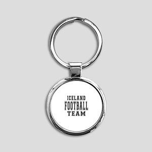 Iceland Football Team Round Keychain