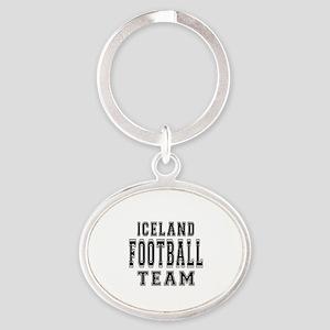 Iceland Football Team Oval Keychain