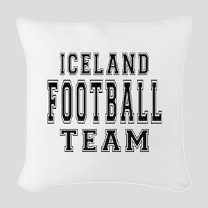 Iceland Football Team Woven Throw Pillow