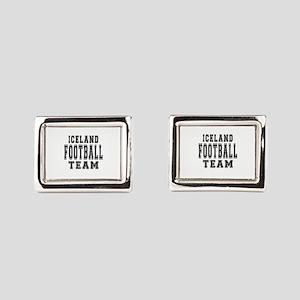 Iceland Football Team Rectangular Cufflinks