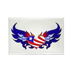 Heart Flag Rectangle Magnet (100 pack)