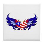 Heart Flag Tile Coaster