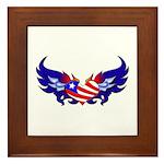 Heart Flag Framed Tile