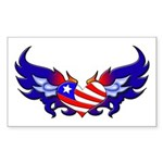 Heart Flag Rectangle Sticker