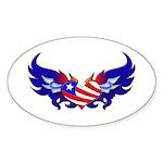 Heart Flag Oval Sticker