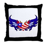 Heart Flag  Throw Pillow