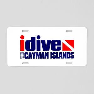 idive (Cayman Islands) Aluminum License Plate