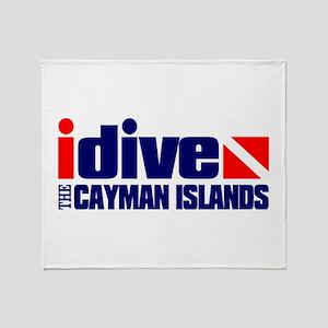 idive (Cayman Islands) Throw Blanket