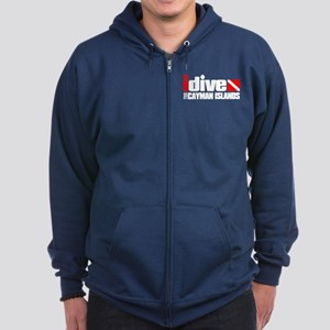 idive (Cayman Islands) Zip Hoodie