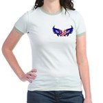 Heart Flag Jr. Ringer T-Shirt